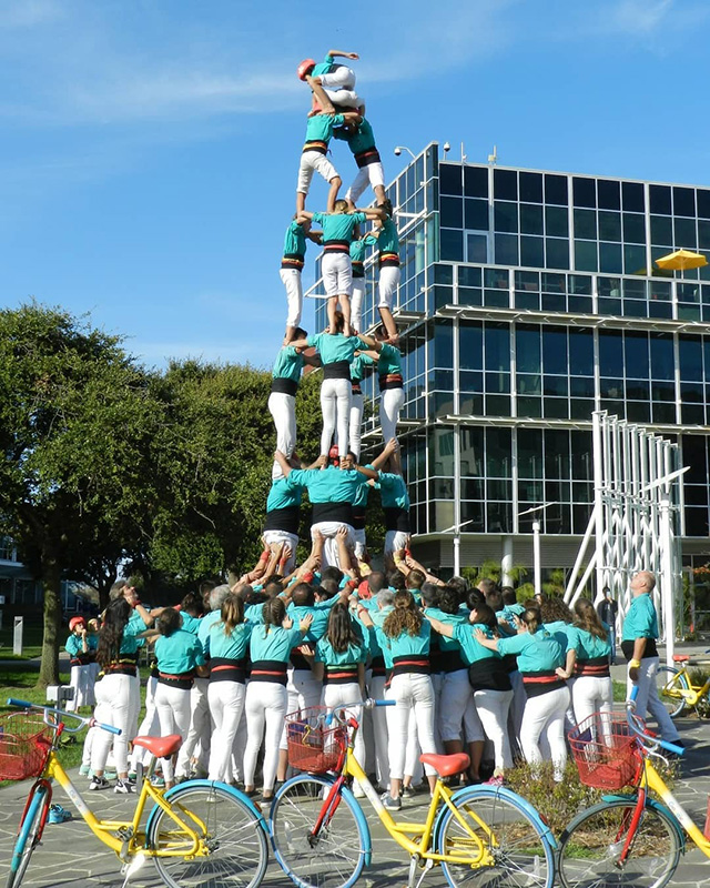 Castellers At The Google Office