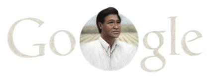 Google's Cesar Chavez Logo