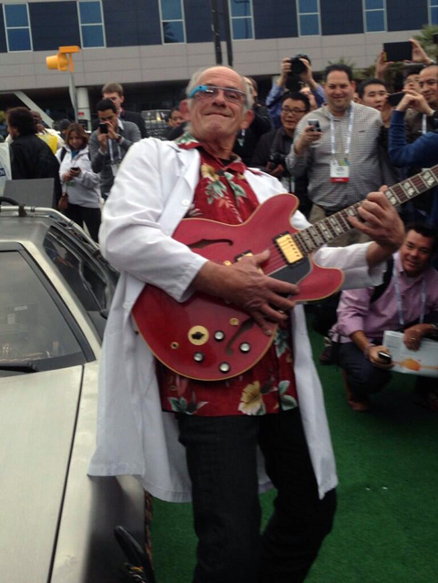 Back To The Future's Christopher Lloyd With Google Glass
