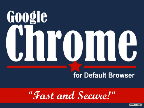 Google Chrome Political Sign