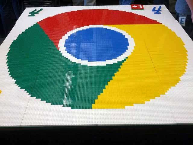 LEGO Chrome Logo