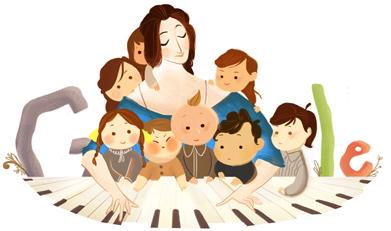 Clara Schumann Google Logo