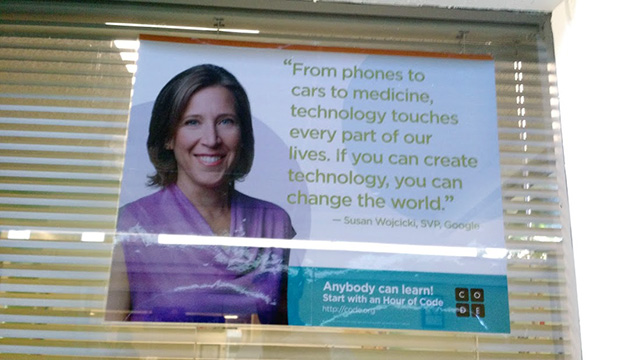 Google Code Posters At Local Schools With Susan WojcickiFace
