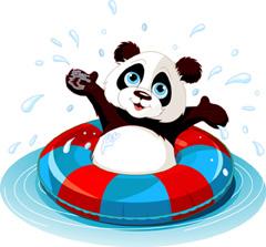 comfortable panda