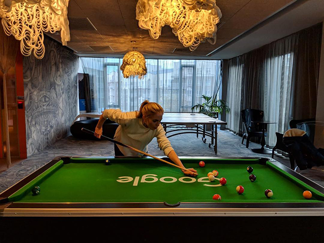 Cool Google Game Room With Pool & Ping Pong Tables