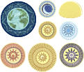 Google Nicolaus Copernicus logo planets only