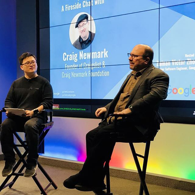 Craig Newmark Interviewed At Google