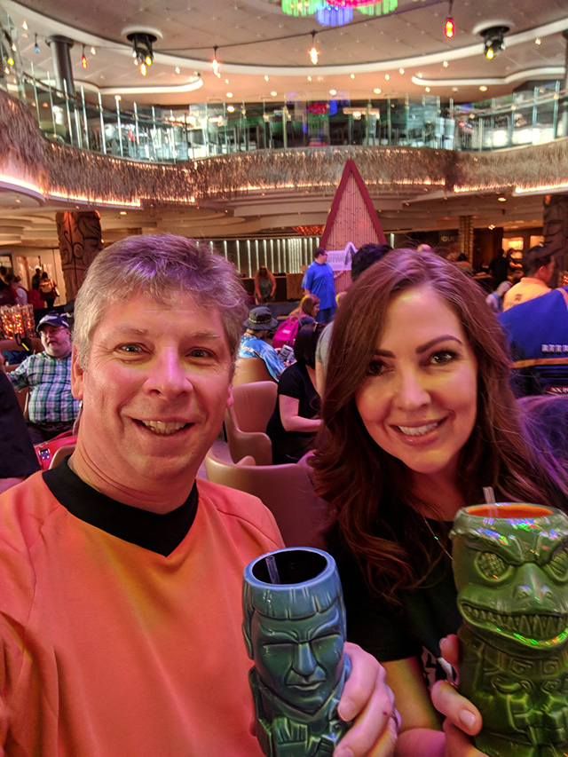 Danny Sullivan & Michelle Robbins On A Star Trek Cruise