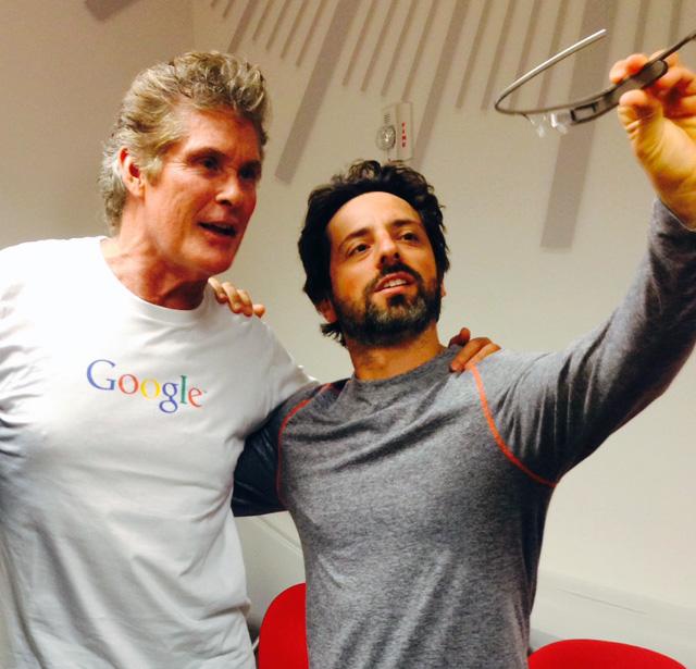 David Hasselhoff & Sergey Brin