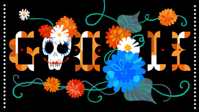 Day of the Dead Google Doodle