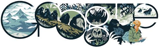 Dian Fossey Google Zoologist Doodle