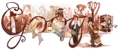 Charles Dickens Google Logo
