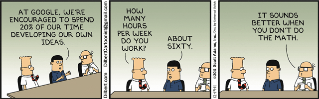 Dilbert: Google 20% Time