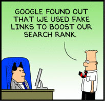Google Dilbert SEO cartoon