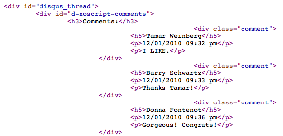 Disqus Comments in Code