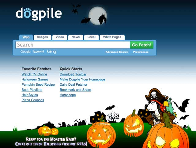 Dogpile Halloween