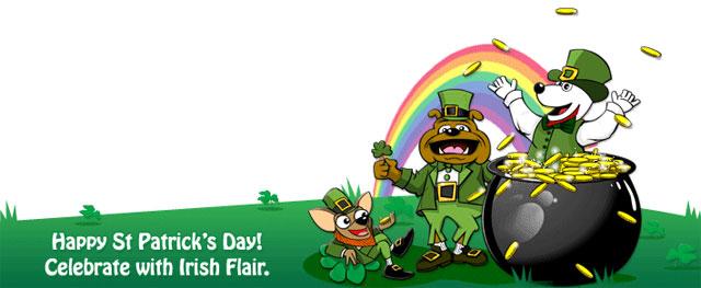 Dogpile's St. Patrick's Day Logo
