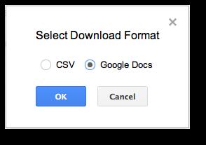 Export Google Webmaster Tools Data To Google Spreadsheets