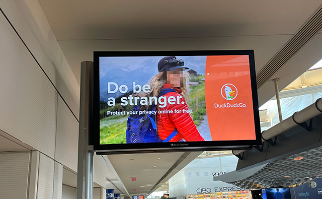 DuckDuckGo Advertisements Even In The Airports