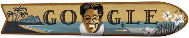 Duke Kahanamoku Google Logo