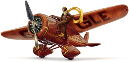 Amelia Earhart's Google Airplane Logo