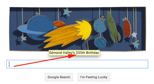 Edmond Halley Google Logo's Mistake