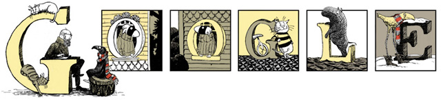 Edward Gorey Google Logo For 88th Birthday