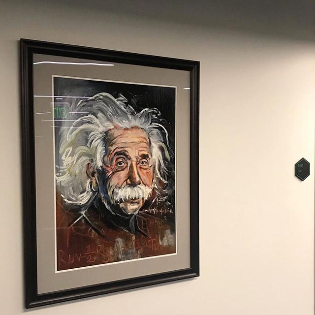 Google Boulder Office Einstein Painting