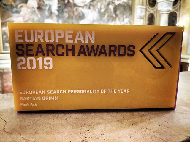 Bastian Grimm Wins EU Search Personality Award