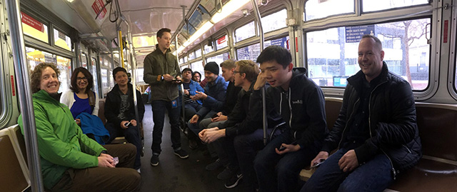 Fabric Team Takes Public Transit To Google For First Day