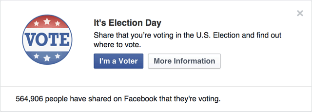 Facebook Voting Election Day Message