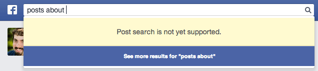 Facebook Search Posts