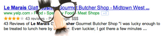 Fake Google Rich Snippets