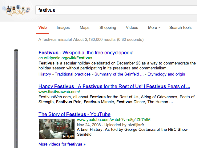 festivus google pole