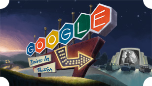 Google - The First Drive-In Movie Theater Logo