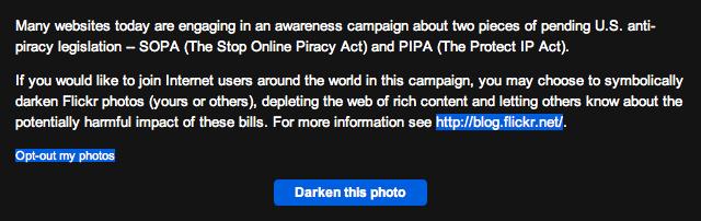 Flickr SOPA