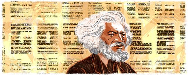 Frederick Douglass Google Logo