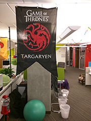 Game Of Thrones Flags At Google's Office