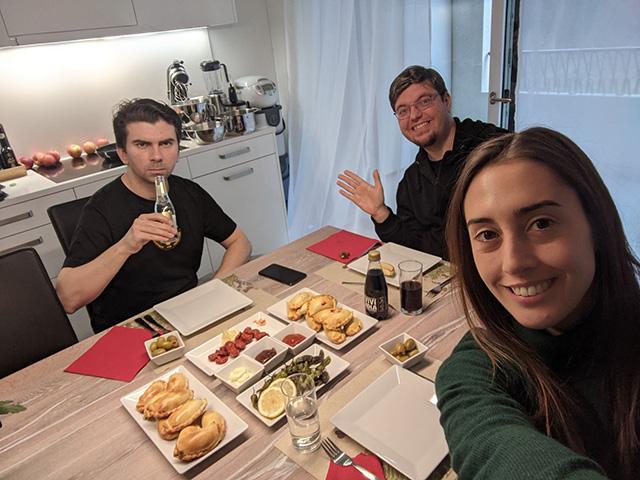 Gary Illyes, Martin Splitt & Aurora Morales From Google Zurich Dinner