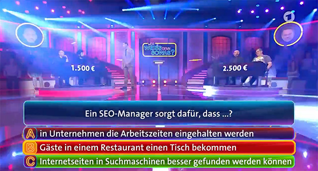 SEO On German Game Quiz Show