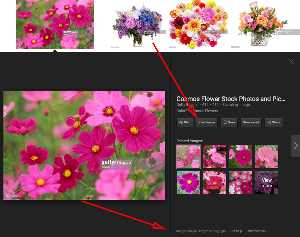 how to change image search size google