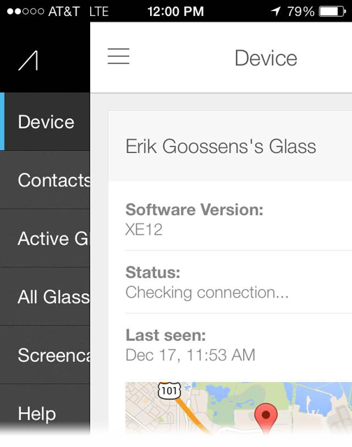 Glass iOS MyGlass App