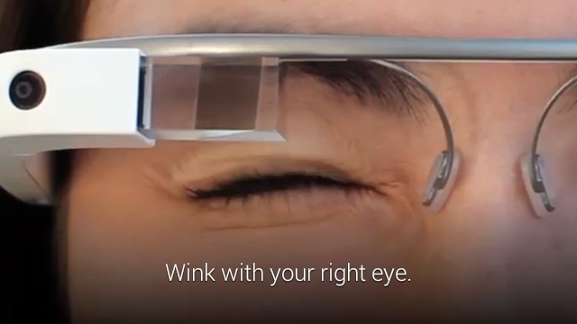 Google Glass Wink