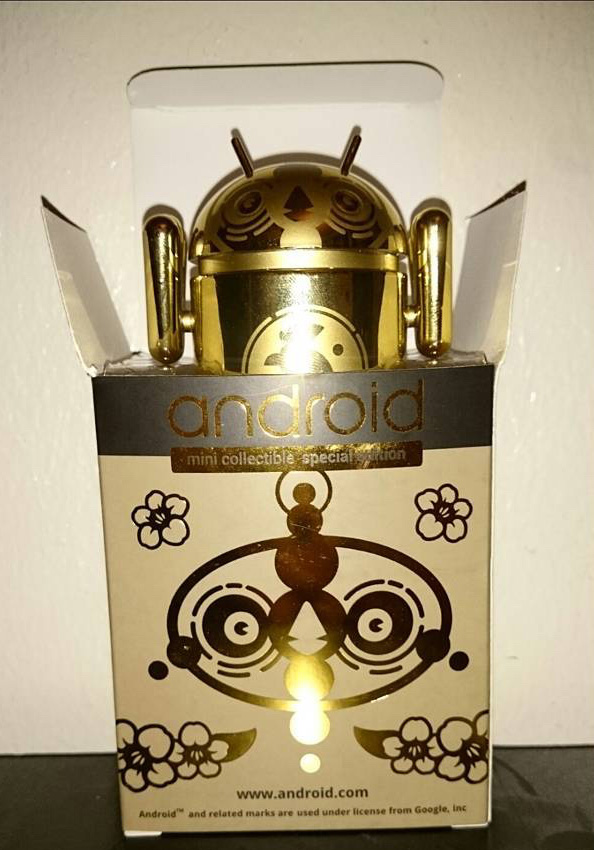 Gold Android Figurine
