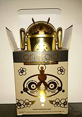 Golden Android Figurine