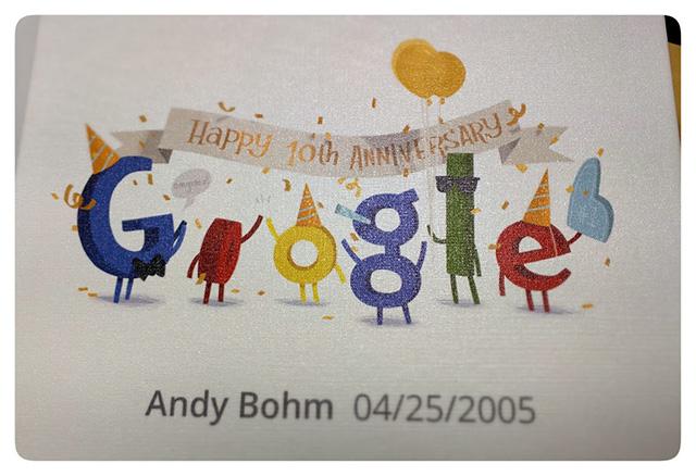 Google Ten Year Anniversary T-Shirt