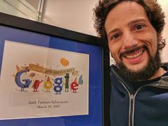 Google 10 Year Working Anniversary Certificate & Award