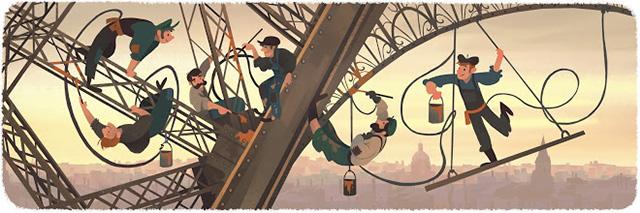 Google Eiffel Tower Logo