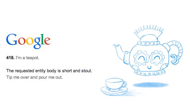 Google 418 Teapot