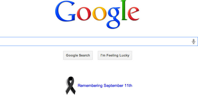 Google 9/11 2011 Ribbon